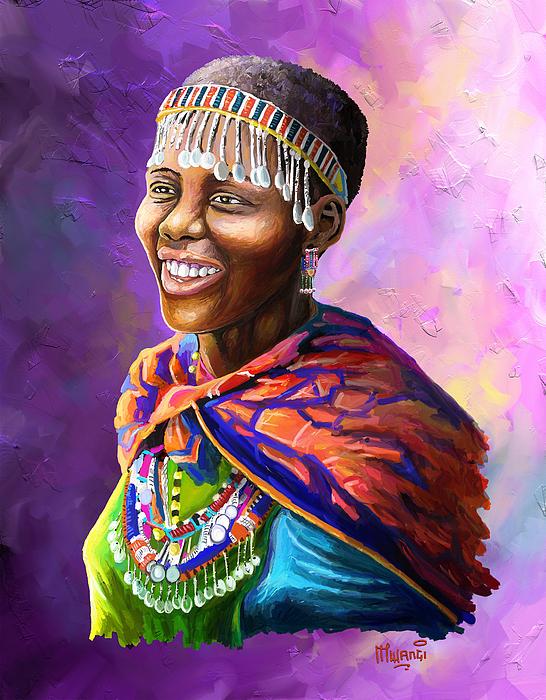 Maasai Girl Painting