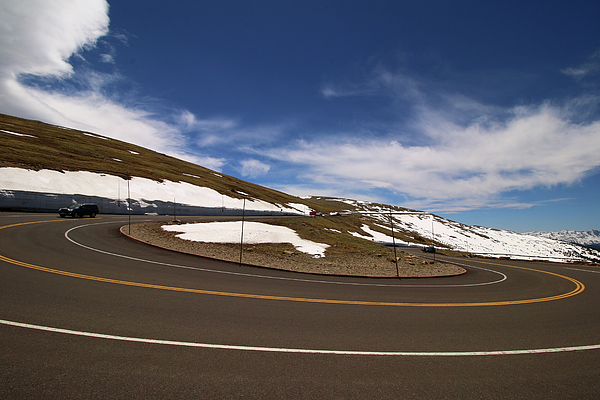 Christiane Schulze Art And Photography - Many Curve Road - Rocky Mountain N P