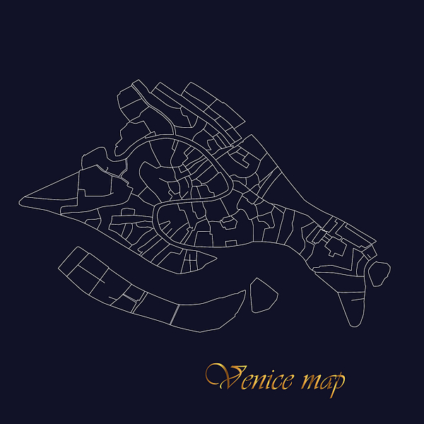 Marina Usmanskaya - Map of Venice