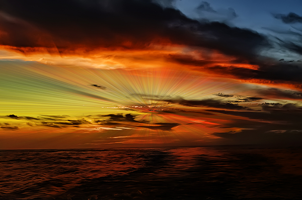 Marco Sunset Rays Photograph