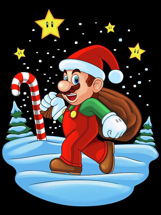 Christmas Mario Png.Mario Xmas Coffee Mug