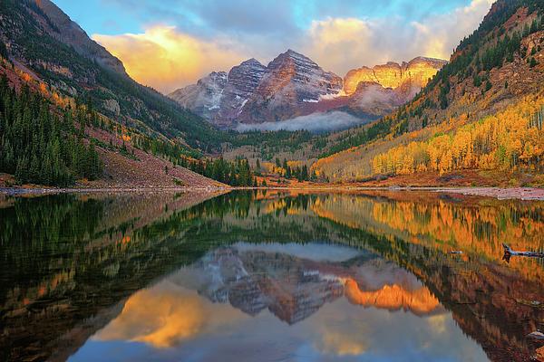 Greg Norrell - Maroon Bells Autumn Reflections