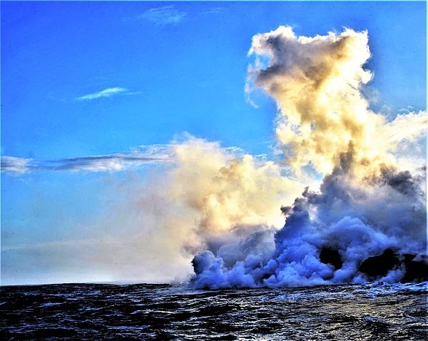 Heidi Fickinger - Maxfield Parish Skies at the Lava Flow