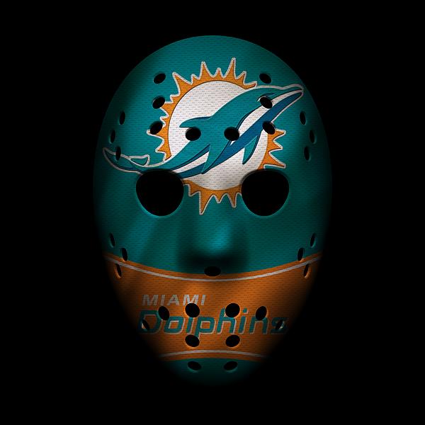 Miami dolphins war mask 3 greeting card for sale by joe hamilton voltagebd Choice Image