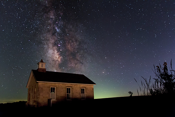 Mark A Brown - Milky Way over Iconic Schoolhouse