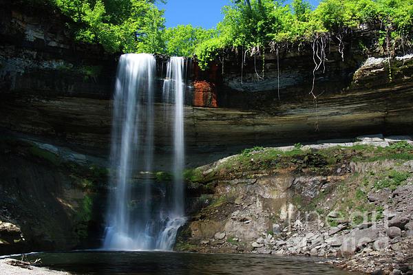 Wayne Moran - Minnehaha Falls Summer Minneapolis Minnesota