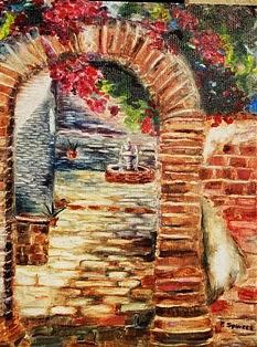 Pamela  Squires - Mission San Juan Prayer Courtyard