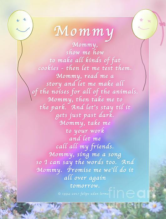 Felipe Adan Lerma - Mommy, An Original Writing