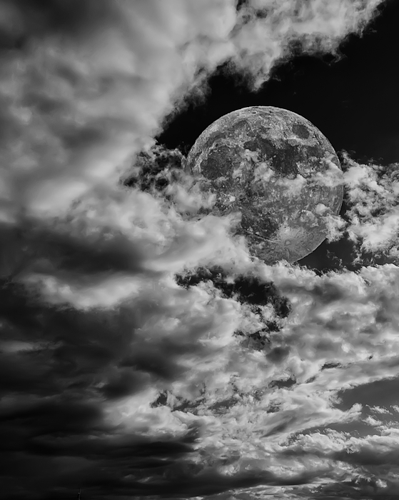 Moon In Clouds 26 Photograph