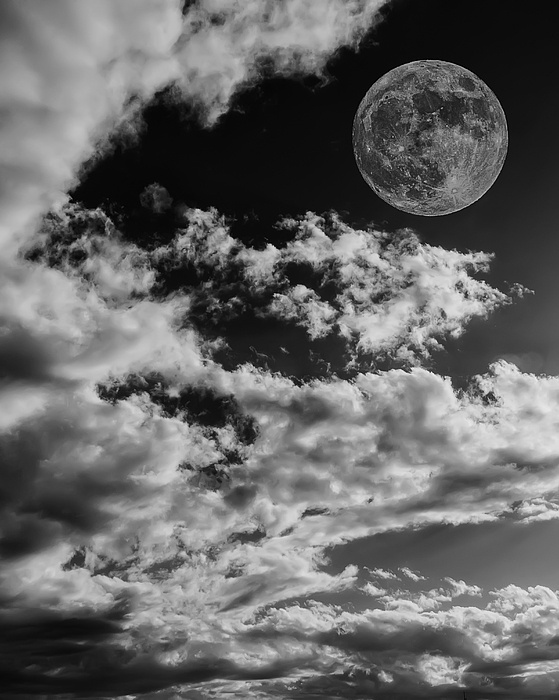 Moon In Clouds 27 Photograph