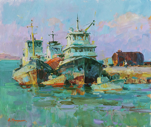 Aleksandr Kryushyn - Morning in the port