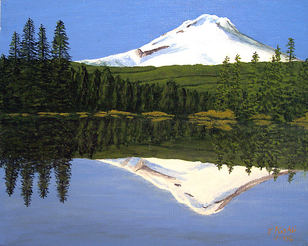 Mount Hood Trillium Lake Greeting Card For Sale By