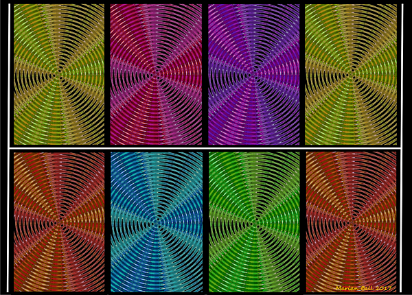Marian Bell - Multicolored Kaleidoscopic Abstract Poster