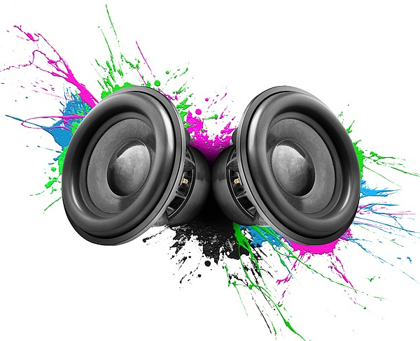 Music Speakers Colorful Design Photograph