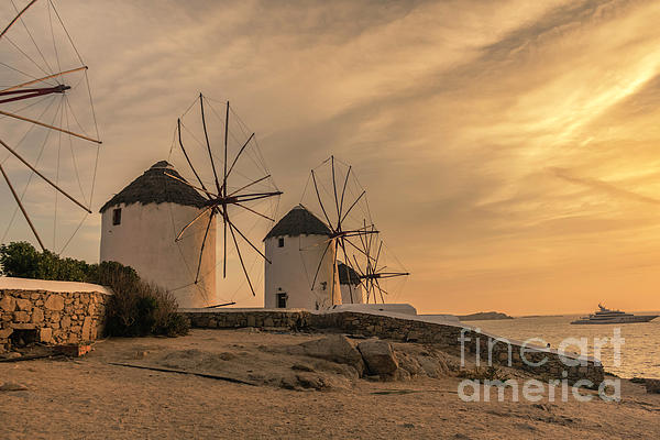 Ioannis K - Mykonos Windmills Sunset Greece