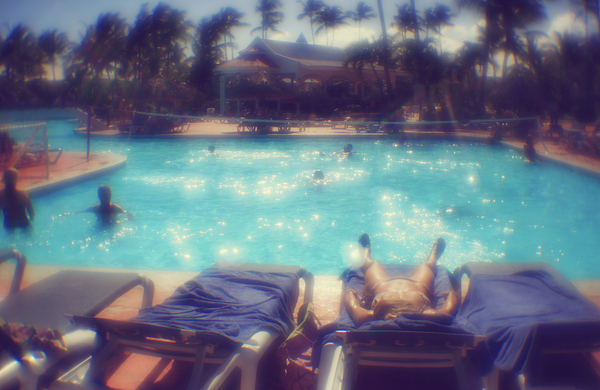 Anna Sopelniak - Near the swimming pool. Lens - Monocle.