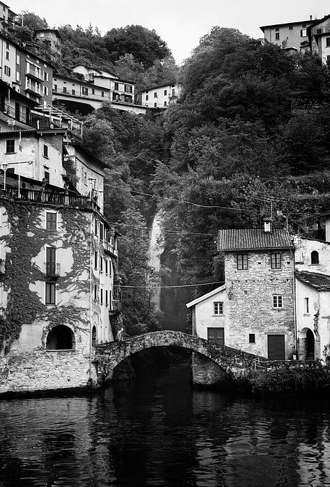Joan Carroll - Nesso on Lake Como Italy BW