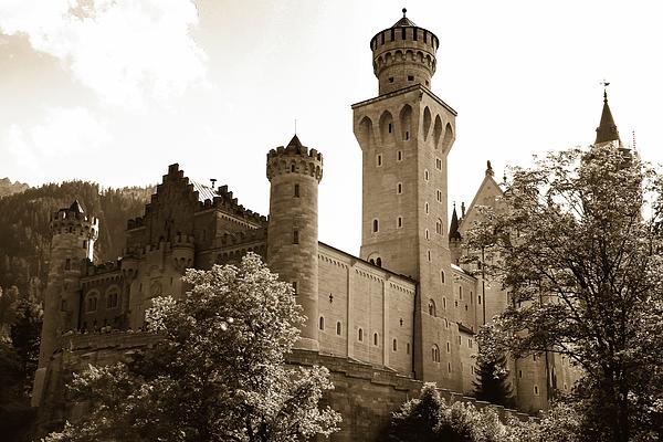 Gerlya Sunshine - Neuschwanstein Castle. Sepia.