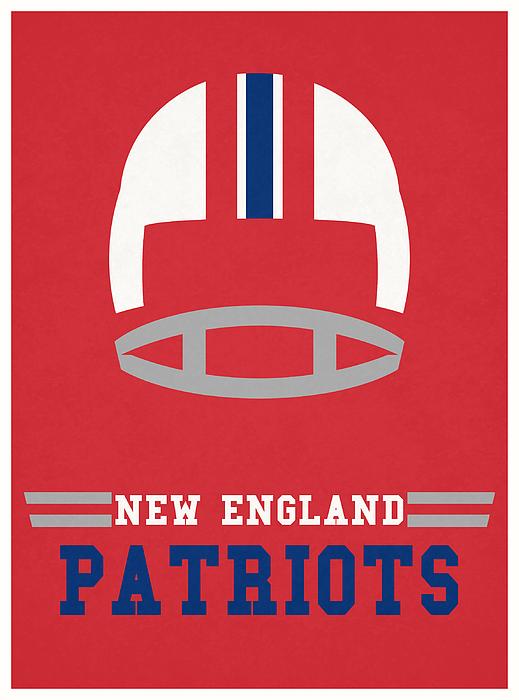 New England Patriots Vintage Nfl Art Duvet Cover For Sale