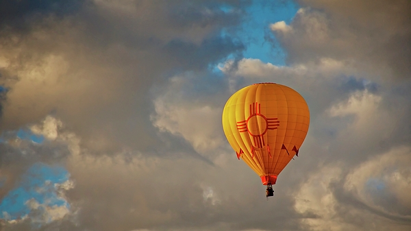 Flying Z Photography By Zayne Diamond - New Mexico Zia Sun Hot Air Balloon