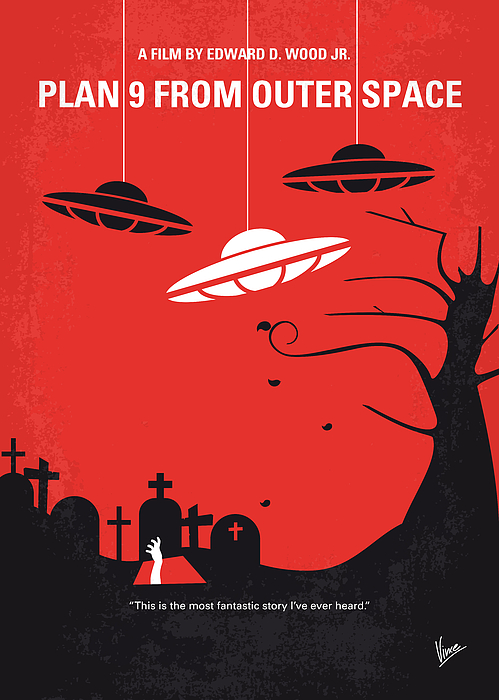 No518 My Plan 9 From Outer Space Minimal Movie Poster