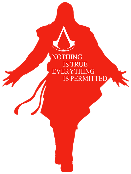 Nothing Is True Assassin S Creed Adult Pull Over Hoodie For Sale