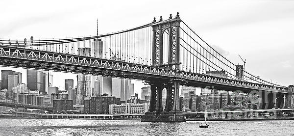 Regina Geoghan - NYC Manhattan Bridge in Black and White