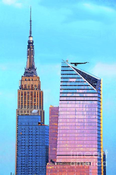 Regina Geoghan - NYC Sundown in Blue and Pink