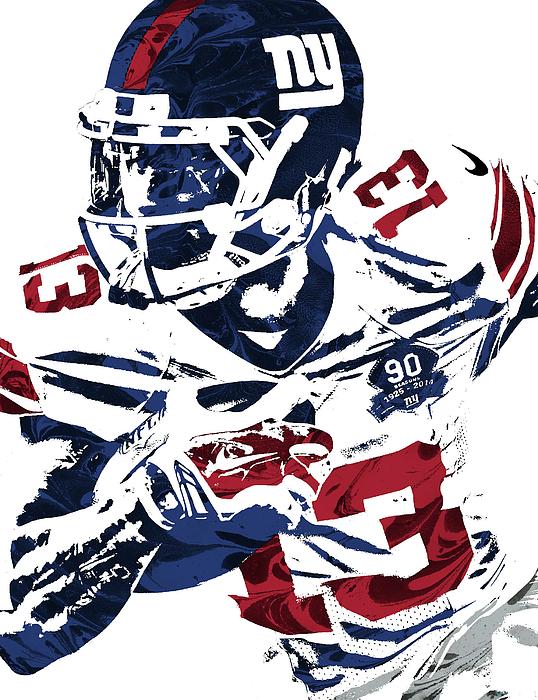 size 40 96430 1fdcd Odell Beckham Jr New York Giants Pixel Art Greeting Card