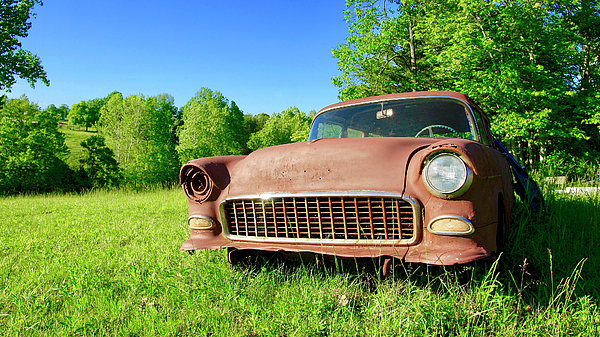 old rusty car greeting card for sale by the american shutterbug society. Black Bedroom Furniture Sets. Home Design Ideas