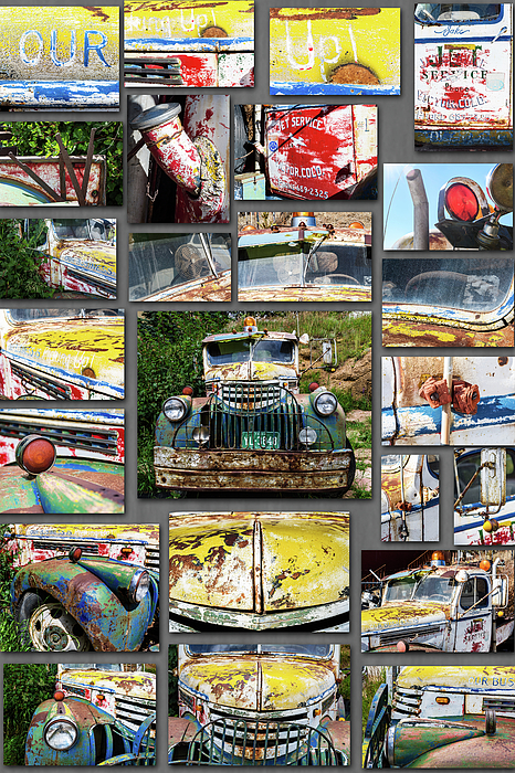 Chris Augliera - Old tow truck collage