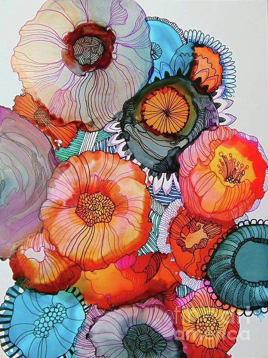 Wendy Westlake - Orange and Blue Bouquet