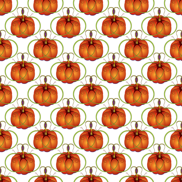 Orange Curvy Autumn Pumpkin Pattern Shower Curtain For