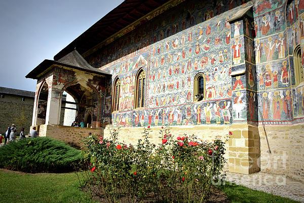 Camelia C - Painted walls at Sucevita Monastery