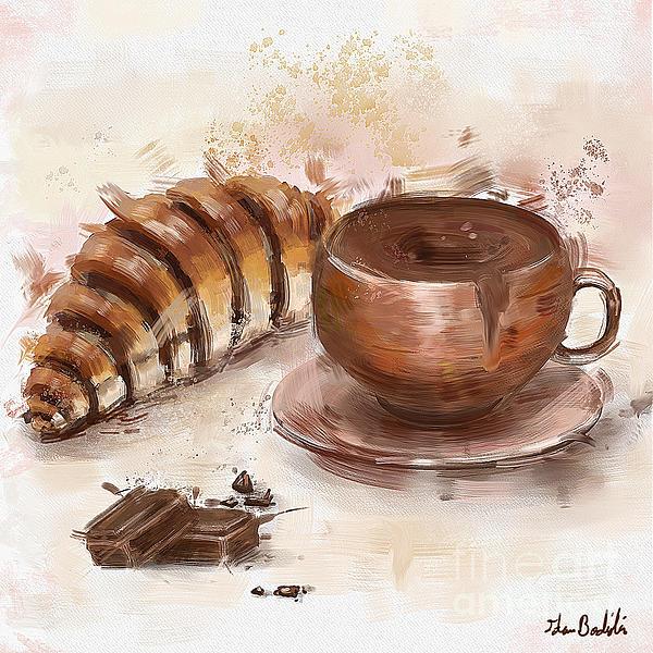Idan Badishi - Painting of Chocolate Delights, Pastry and Hot Cocoa