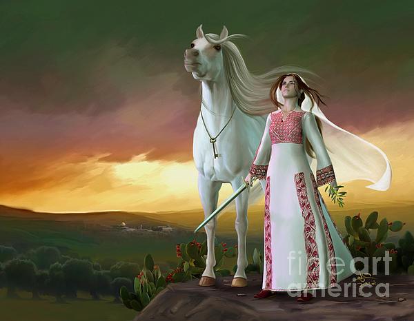 Imad Abu shtayyah - Palestanian with white horse