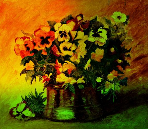 Henryk Gorecki - Pansies in the vase