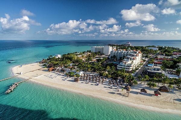 David Daniel - Paradise - Isla Mujeres - Playa Norte, Aerial Image