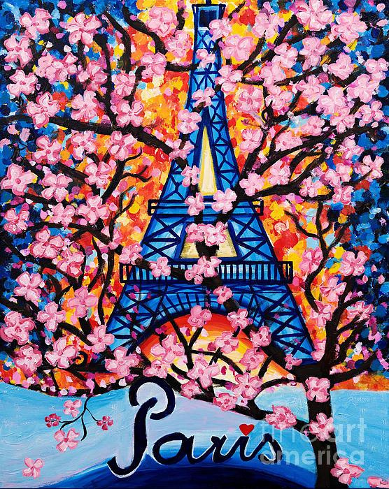 Art by Danielle - Paris Cherry Blossoms