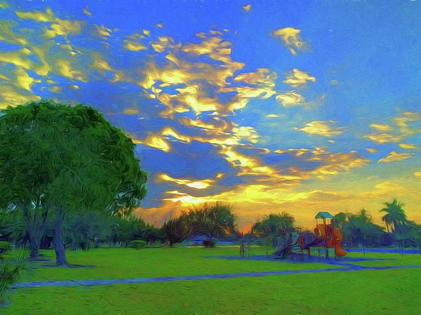 Jill Nightingale - Peaceful Playground Sunrise Sunset