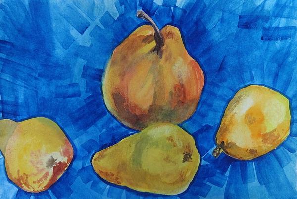 Irina Stroup - Pears on blue