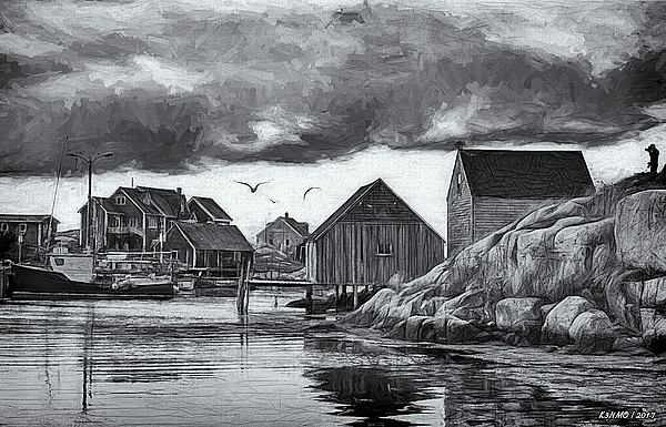 Ken Morris - Peggys Cove in Black and White