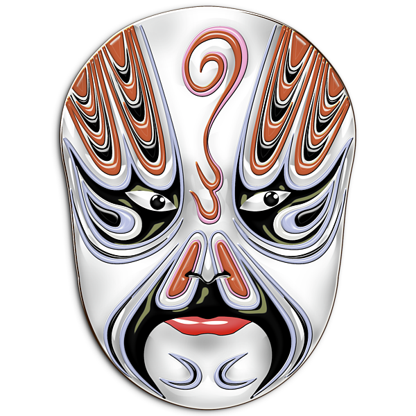 Peking Opera Face Paint Masks Chong Houhu Shower Curtain