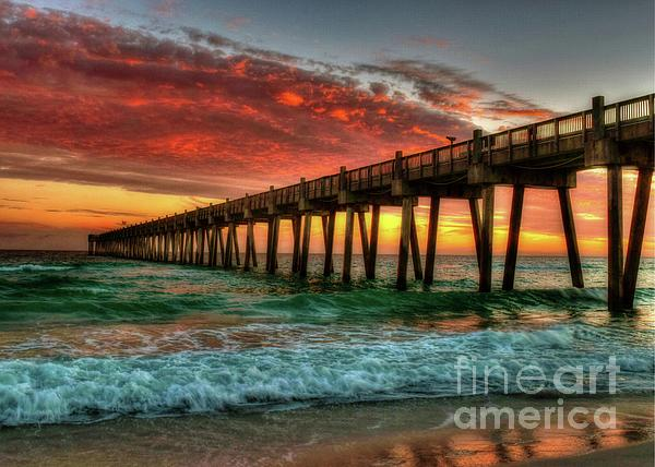 Joseph Rainey - Pensacola Beach Pier Sunset 2