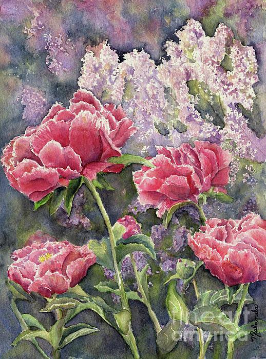 Malanda Warner - Peonies and Lilacs
