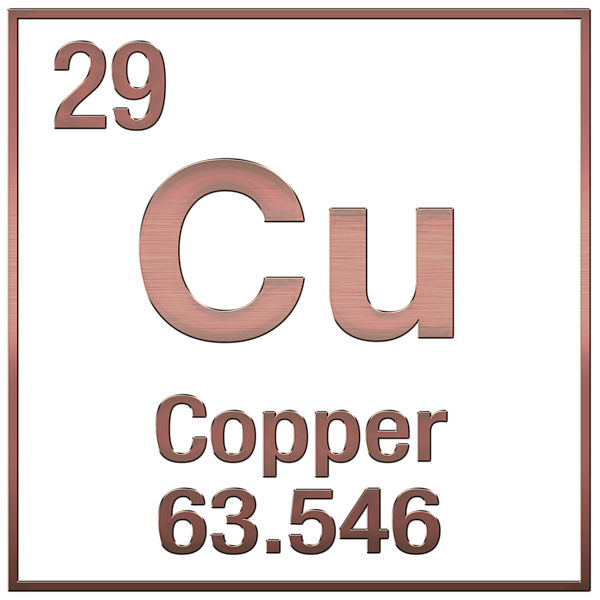Periodic Table Of Elements Copper Cu Copper On Copper T Shirt
