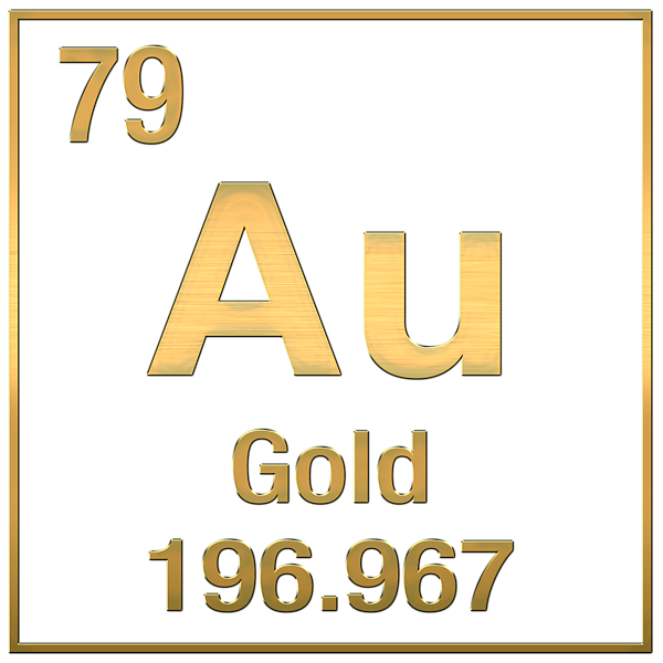 Periodic table of elements gold au gold on black t shirt for click and drag to re position the image if desired urtaz Gallery