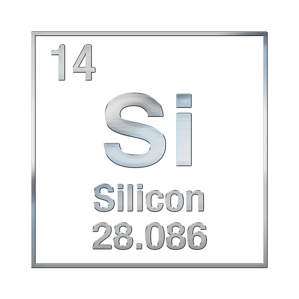 Periodic Table Of Elements Silicon Si On Black Canvas Kids T