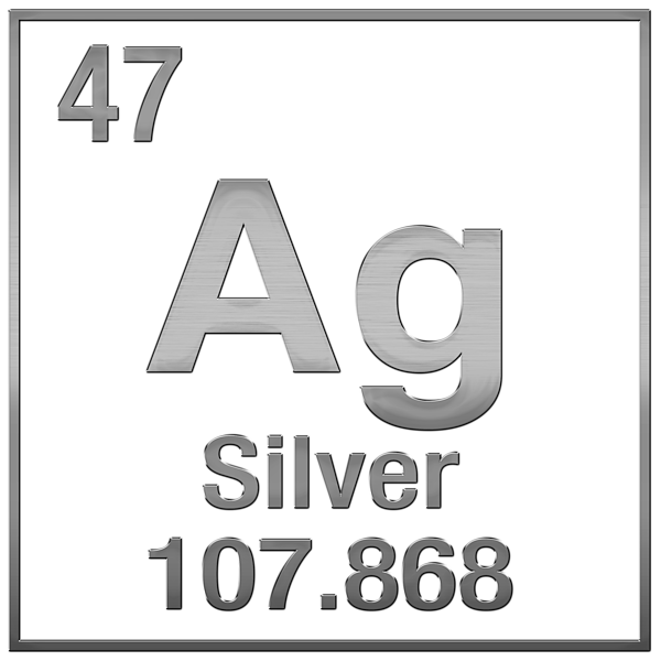 Periodic table of elements silver ag silver on silver greeting boundary bleed area may not be visible urtaz Choice Image