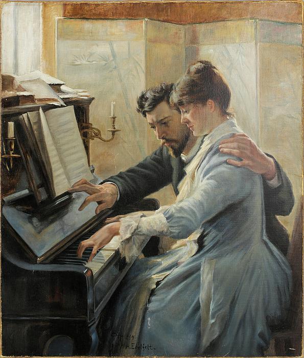 Albert Edelfelt - Piano Lesson